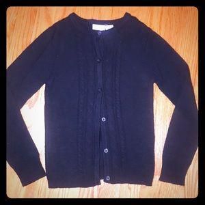 Girls Uniform Butyon Down Cardigan Sweater. Size M